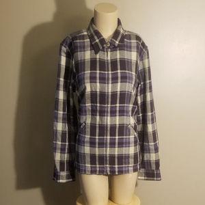 Christopher & Banks Wool Blend Plaid Jacket SZ Med